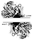 grunge floral abstract banner Royalty Free Stock Photos