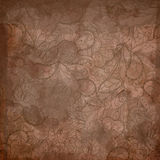 Grunge floral abstract hand-drawn pattern. Royalty Free Stock Images