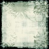 Grunge floral backdrop. Grungy floral stamped/sponge backdrop; room for text or pictures Stock Photo
