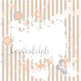 Grunge floral background. Inscription Congratulate on grunge floral background Stock Images