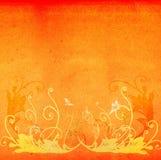 Grunge floral background. Floral design on textured background Stock Image