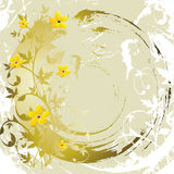 Grunge floral background. (abstract vector ornament Stock Photos
