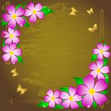 Grunge floral background. Stock Image