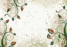 Grunge floral background. Floral design on a grunge background Royalty Free Stock Photos