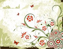 Grunge floral background Royalty Free Stock Images
