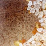 Grunge floral background. In scrap-booking style Stock Photo