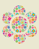 Grunge floral background - 4 Royalty Free Stock Photos