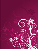 Grunge floral background. With place for text Stock Illustration