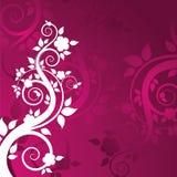 Grunge floral background Stock Image