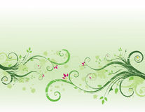 Grunge floral background. With place for text Royalty Free Illustration