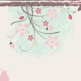 Grunge floral background Royalty Free Stock Photo
