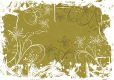 Grunge floral background with blots, vector Royalty Free Stock Photos
