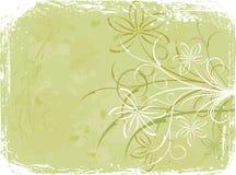 Grunge floral background, elements for design, vector. Illustration royalty free illustration