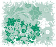 Grunge floral background, elements for design, vector Royalty Free Stock Image