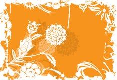 Grunge floral background, elements for design, vector stock image