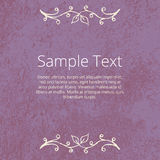 Grunge Floral Background with Empty Space Royalty Free Stock Image