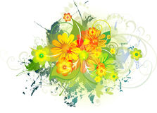 Grunge floral Background. Eps10. Grunge floral Background for your text Stock Photo