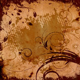 Grunge floral background. Royalty Free Stock Images