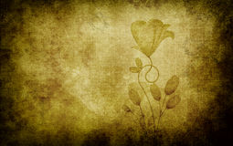 Grunge floral background. Stock Photography