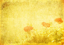 Grunge floral background with space for text Stock Photo