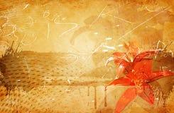 Grunge floral background. Stock Photos