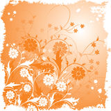 Grunge floral background, vector Stock Photos