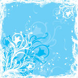 Grunge floral  background, vector Stock Images