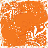 Grunge floral  background, vector Stock Photography