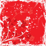 Grunge floral  background, vector Royalty Free Stock Images