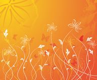 Grunge floral background, vector Stock Photo