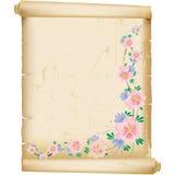 Grunge floral background on vintage manuscript pap vector illustration