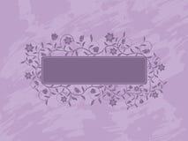Grunge floral banner. Stock Image