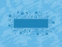 Grunge floral banner. Royalty Free Stock Photography