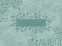 Grunge floral banner. Stock Images