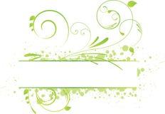 Grunge floral banner Stock Image
