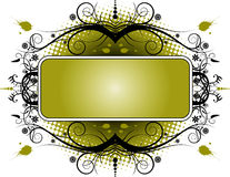 Grunge Floral Banner Stock Images
