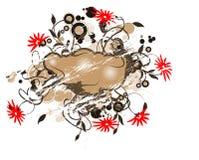 Grunge floral banner royalty free illustration