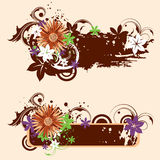 Grunge floral banners Royalty Free Stock Photos
