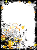 Grunge floral border, vector Royalty Free Stock Photos