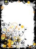Grunge floral border, vector Royalty Free Stock Photos