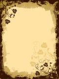 Grunge floral border, vector vector illustration