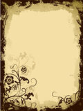 Grunge floral border, vector Stock Photography