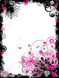 Grunge Floral Border, Vector Royalty Free Stock Image
