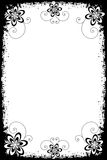 Grunge floral borders. Illustration of grunge floral borders,black and white, for your design.EPS file available Stock Images