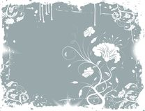 Grunge floral chaos stock illustration