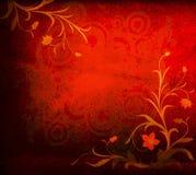Grunge floral composition Stock Images