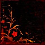 Grunge floral composition vector illustration