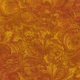 Grunge floral de oro Foto de archivo