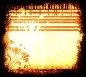 Grunge floral design Stock Photo