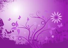 Grunge floral design Royalty Free Stock Photos